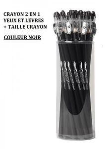 CRAYON-2-EN-1-CONTOUR-YEUX-LEVRE-TAILLE-CRAYON-NOIR-NEUF-MAC024