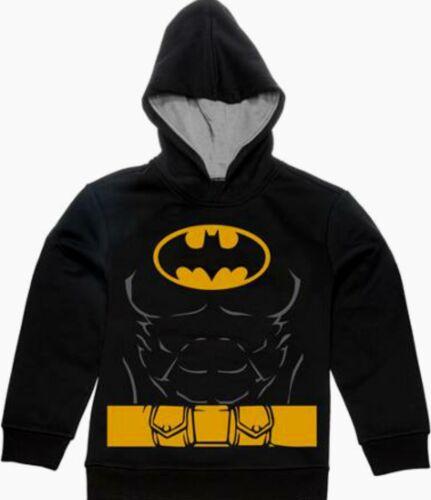 Batman Pullover Hoodie Size 4-5 XS 6-7 S 8 M 10-12 L 18 XXL New Child Sweatshirt