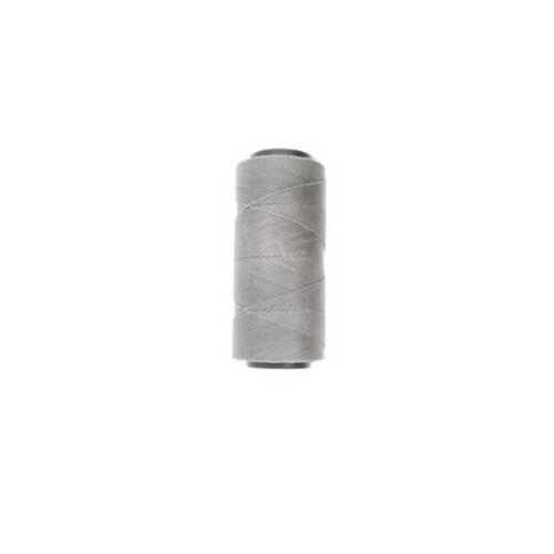 Brazilian Waxed Polyester Cord 1mm 2 play 157 yards Light Grey