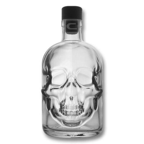 0,5 Liter Piraten Flasche 3 x Totenschädel Flasche LeereTotenkopf Flasche