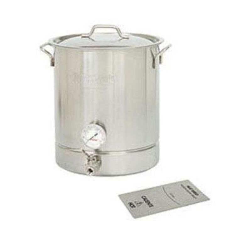 8-Gal. Brew Kettle Set, Stainless, 32-Qt. 4 Piece Standard Brew Kettle Sets NEW