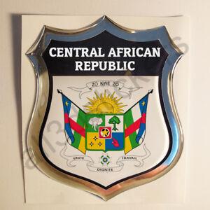 Pegatina-Republica-Centroafricana-Escudo-de-Armas-3D-Emblema-Vinilo-Adhesivo