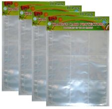 Trading Card Al Binder Plastic Protector Pages Sleeves 9 Pocket X 20 Sheets
