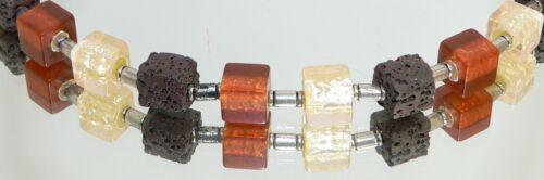 Armband Lava braun Resin//Harz Würfel champagner braun Modeschmuck  369.