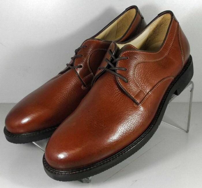 592874 SP50 Men's Shoes Size 9 M Dark Tan Leather Lace Up Johnston & Murphy