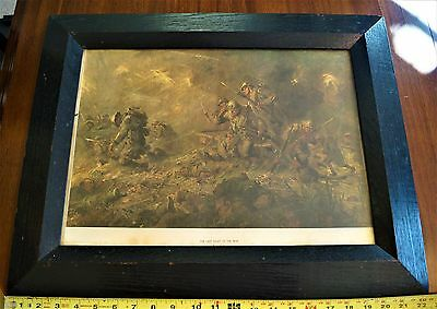 WW1 Print By F C Yohn The Last Night Of The War Framed Period Correct Litho