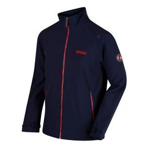 Details zu Regatta Mens Callen Wind Resistant Softshell Warm Outdoor Work Jacket Navy