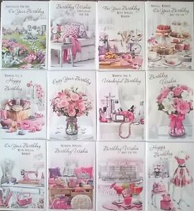 Pack of 12 female contemporary traditional mixed birthday greeting image is loading pack of 12 female contemporary traditional mixed birthday m4hsunfo