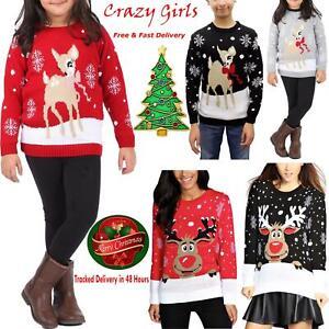 Kids-Novelty-Baby-Deer-Bambi-Sweater-Top-Boys-Girls-Christmas-Xmas-Snow-Jumpers