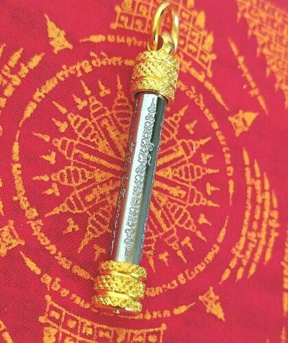 Pendant Takrud Ha Taew Thai Amulet  Yant Takrut Thailand Protection Defense Life