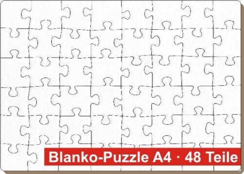48 Teile 29,7 x 21 cm Blanko-Puzzle DIN A4 2er Set