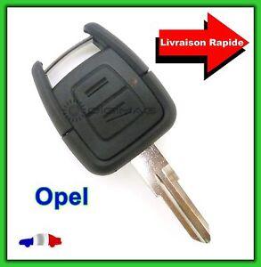 Coque-Telecommande-Plip-Bouton-Cle-Opel-Vectra-Astra-Zafira-Lame-vierge