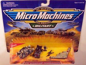 Military-Micro-Machines-1999-15-SCORPION-COMMANDOS-MOC-T-80-DPV-B-2-Bomber