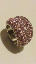 Coco Ribbon London diseñador cóctel anillo con cristales rosa Talla M. En Caja ***