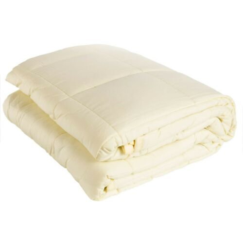 """60/"""" x 80/"""" Pur-Well Living Weighted Blanket Cream Yellow Heavy Blanket 15 lb"""