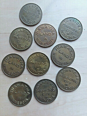 Lot of 10 Downtown Olympia WA3600B Washington parking tokens