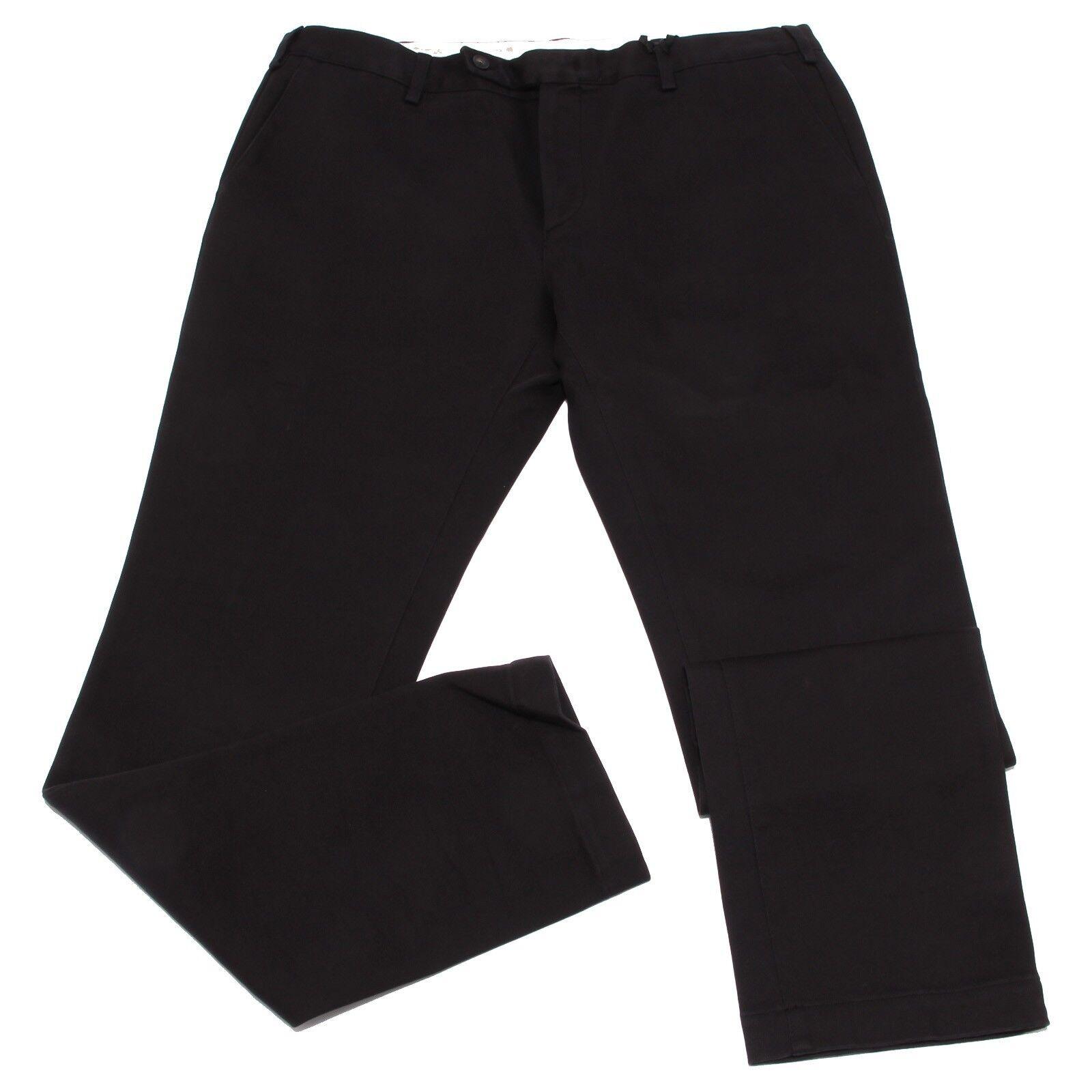 1990W pantaloni uomo MAURO GRIFONI nero cotton trouser men
