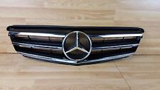 Mercedes C Class W204 07-14 Black Chrome Sports AMG Front Grill Grille Bumper