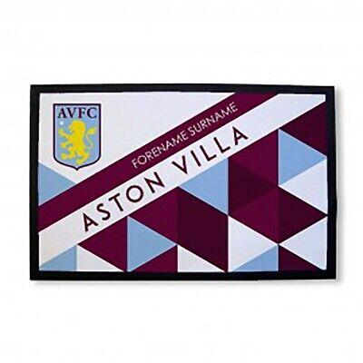 Aston Villa F.c - Personalised Door Mat (patterned) Om Een Hoge Bewondering Te Winnen En Is Op Grote Schaal Vertrouwd Thuis En In Het Buitenland.