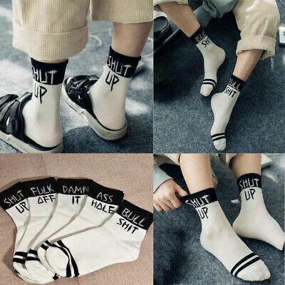 1 Pair Unisex Funny Socks Printed Skateboard Novelty Soft Sock Letter Casual