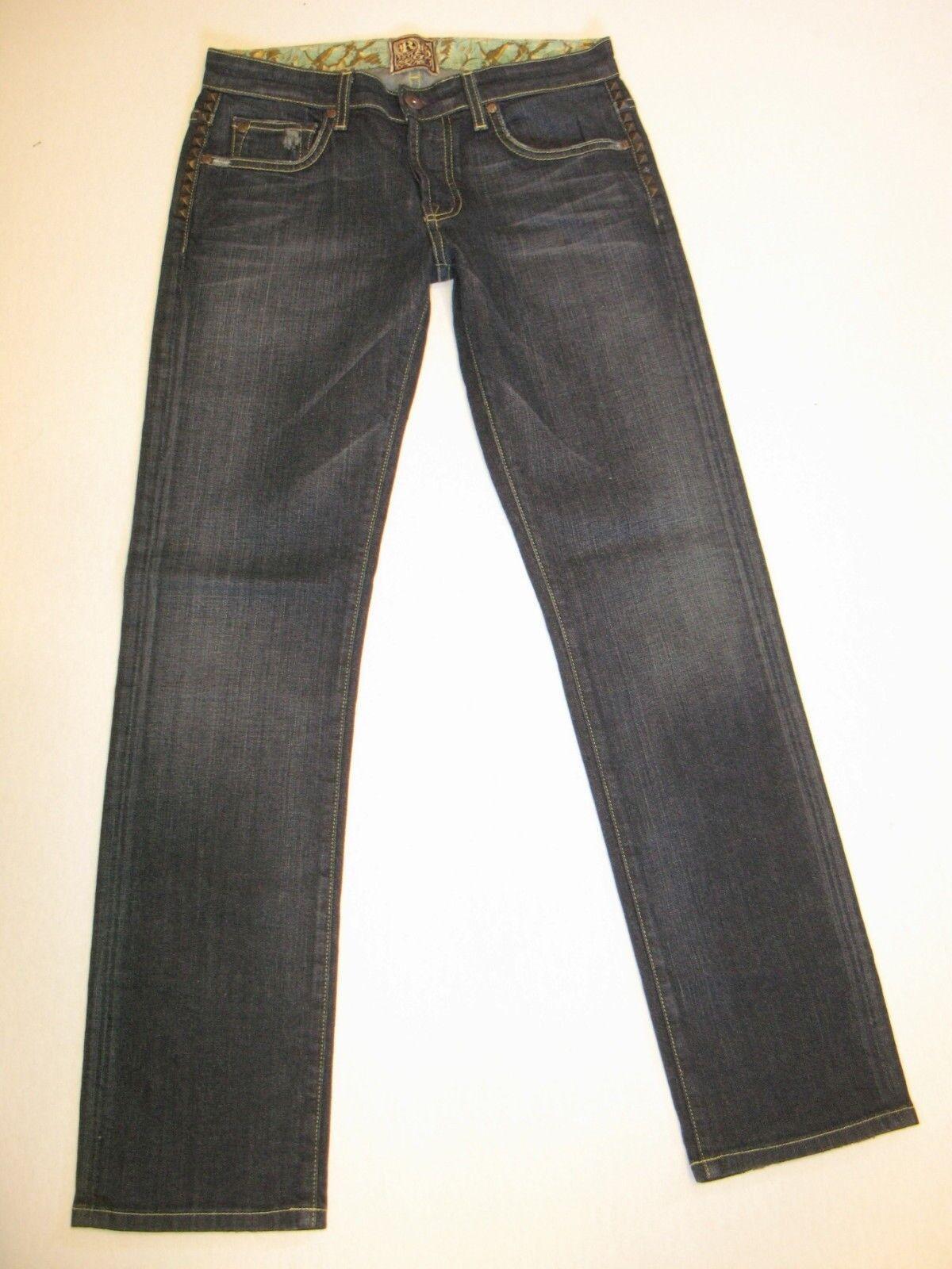 Rich & Skinny Jeans Womens Super Studly Straight Leg Sz 25 NEW (Run BIG)