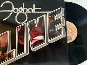 Foghat-Live-LP-1977-Bearsville-BRK-6971-Classic-Rock-EX-VG