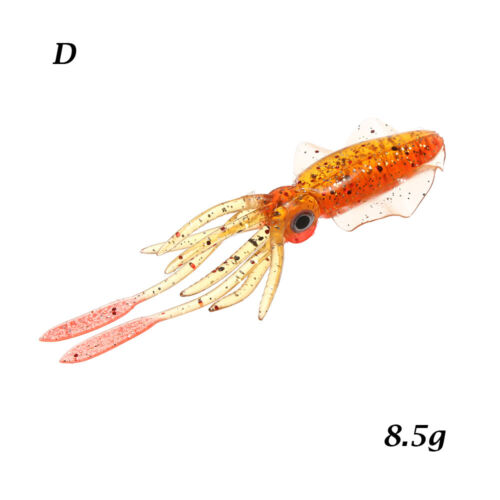 Details about  /Soft Silicone Squid Skirt Lure long tail Saltwater Octopus Bait Fishing Tackle
