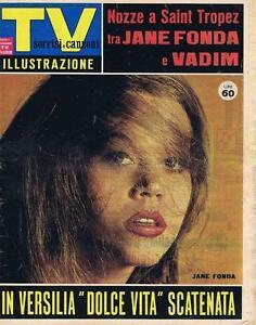 Sorrisi E Canzoni Tv N 321964 Jane Fonda Adriano Celentano Macario