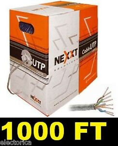 1000 FT CAT5 E ETHERNET LAN NETWORK CABLE 1 Gbps CAT-5 WIRE RJ45 LAN CABLE