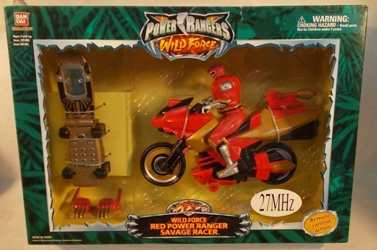 Power Rangers Wild Force Morpher Remote Control R/C ROT Savage Racer Cycle MIB
