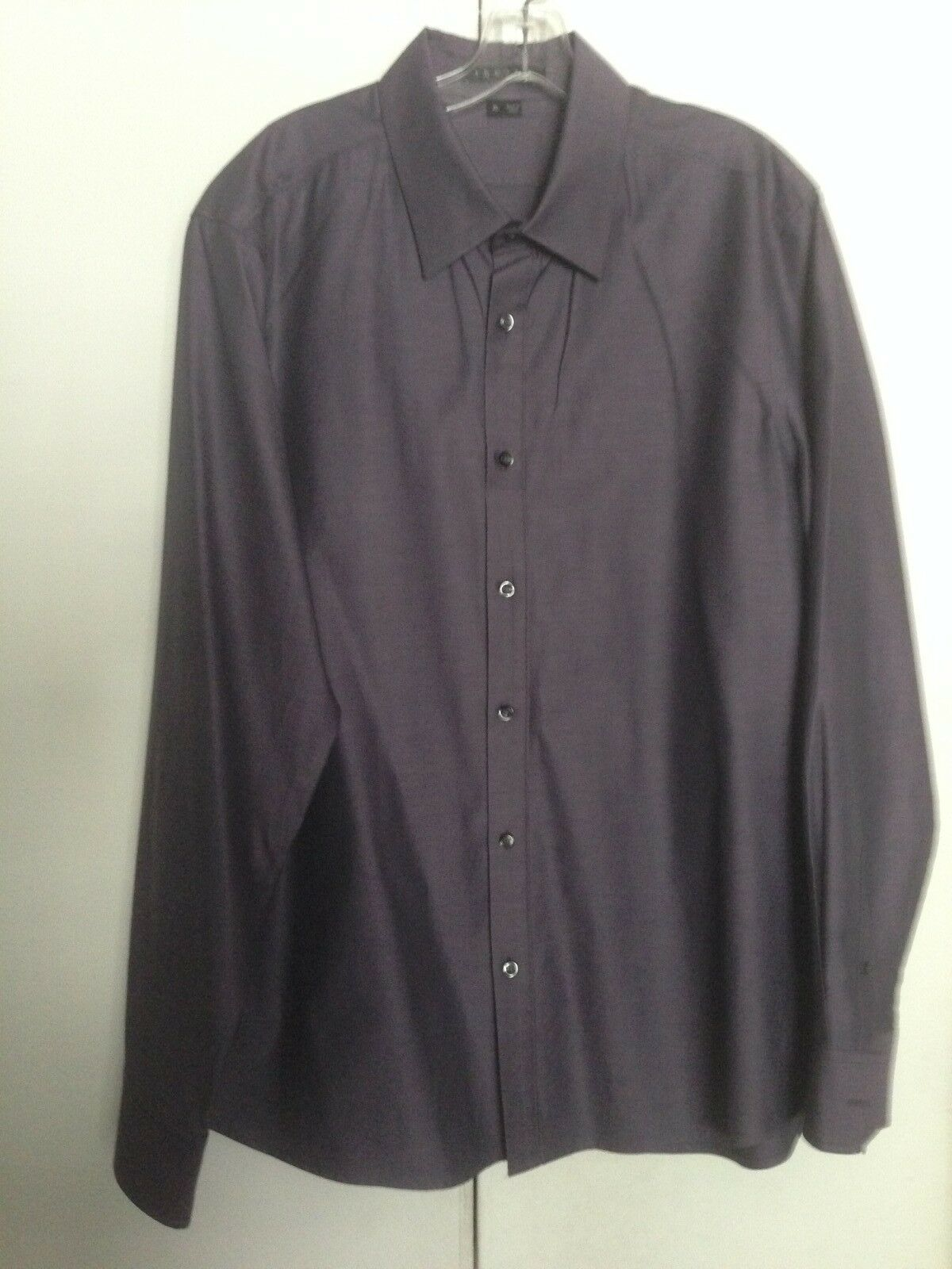 THEORY MENS KALE WP BUTTON FRONT LONG SLEEVE SHIRT US SIZE XL