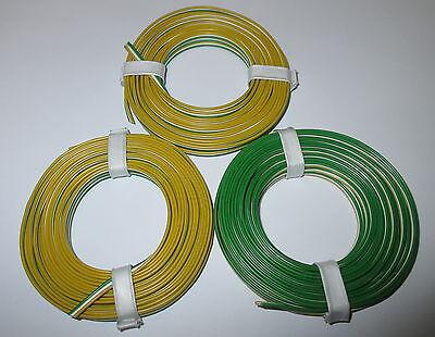 (0,53 M) Triplo Filo 3x5m Bianco Giallo Verde Trix Nuovo