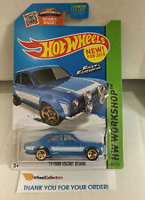 '70 Ford Escort RS1600 #221 * BLUE * Hot Wheels 2015 Fast & Furious USA * W43