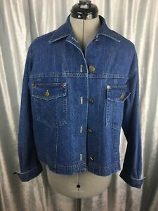 Details about Vintage Carol Anderson Collection Denim Jean Jacket 80-90's  Button Size Medium