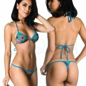 6fa658966c Coqueta Women Swimwear Bathing Suit Tri Top & Micro Thong Bottom ...