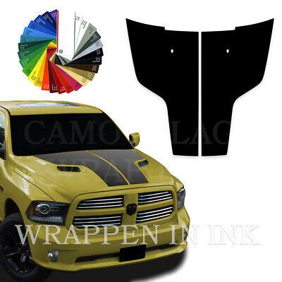 Dodge Ram 1500 Hood Stripe Racing Decals Vinyl Graphics 3M Stripes 2009-2018