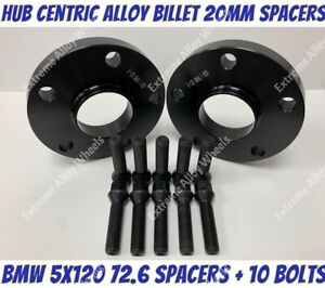 Black-Hubcentric-20mm-Wheel-Spacers-amp-Bolts-Fit-Bmw-5x120-PCD-72-6-CB-UK-SHIPPED