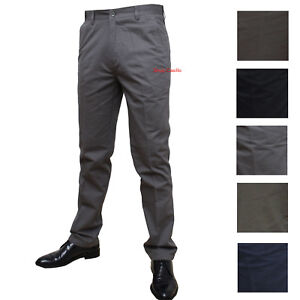 éNergique Pantalone Uomo Tasca America Classico Vita Alta 46 48 50 52 54 56 58 60 Cotone Les Clients D'Abord