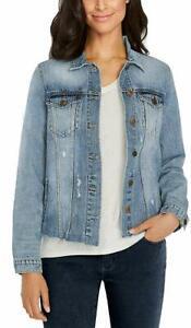 NEW-Buffalo-David-Bitton-Womens-Denim-Jacket-Blue-Sz-Large