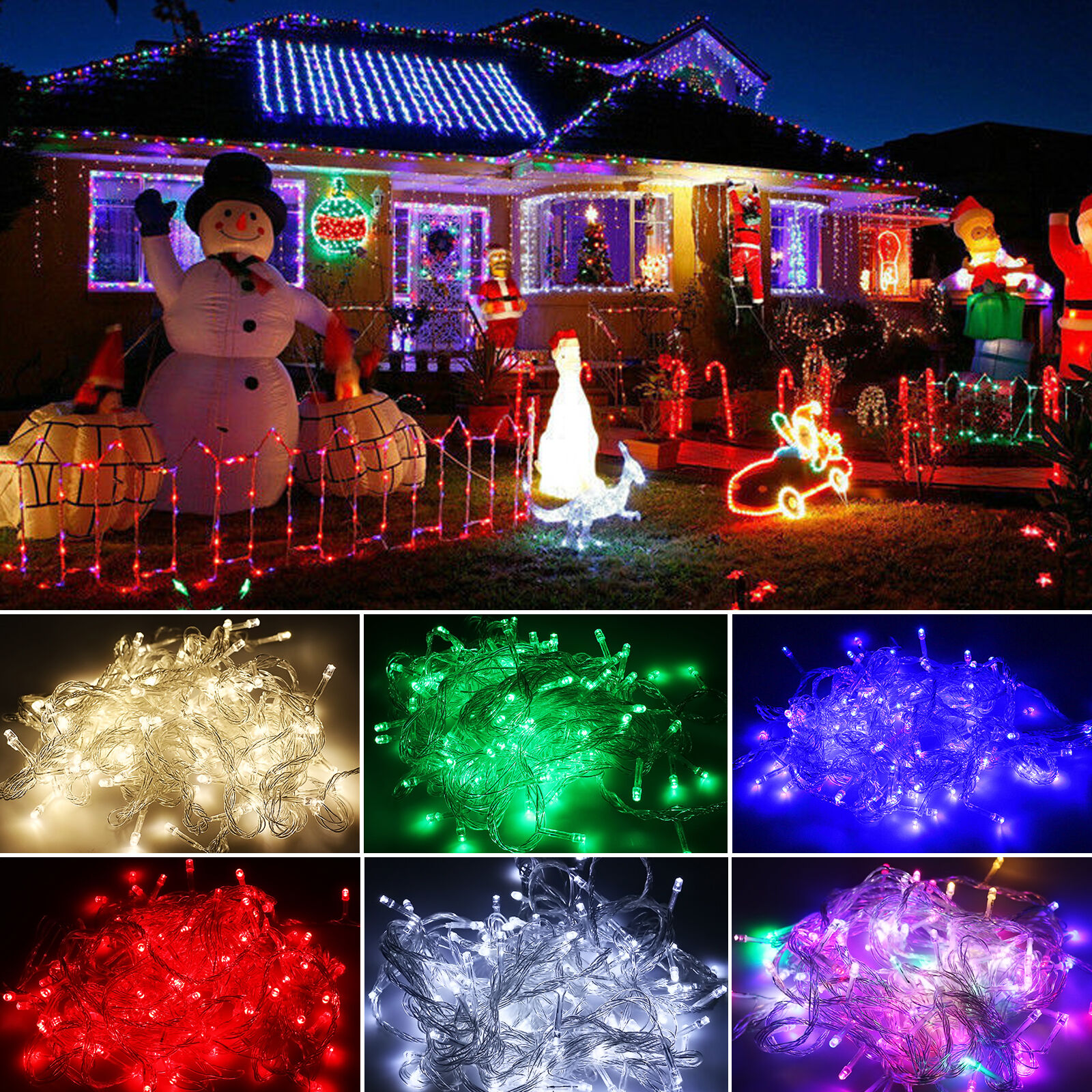 3 Musical 8 Christmas Tree Decoration Indoor Outdoor Led Lights In Box For Sale Online Ebay