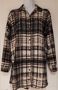 Womens-Top-Shop-Long-Sleeve-Long-Line-Oversized-Multi-Colour-Check-Blouse-Top-10