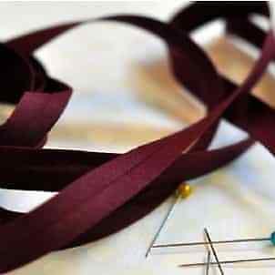 25 mm biais lie de vin