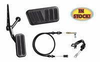 55-57 Chevy Midnight Black Pedal Kit For Automatic Trans Cars - Xbag-6074
