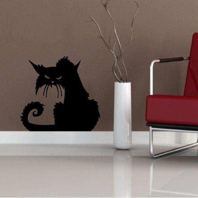 Window Glass Removable Decal Decoration Decor Black Cat Halloween Wall Sticker