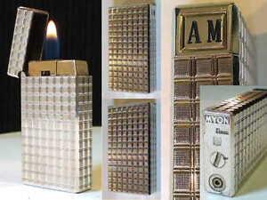 BRIQUET-Ancien-MYON-Electrique-Vintage-gas-LIGHTER-Feuerzeug-Accendino