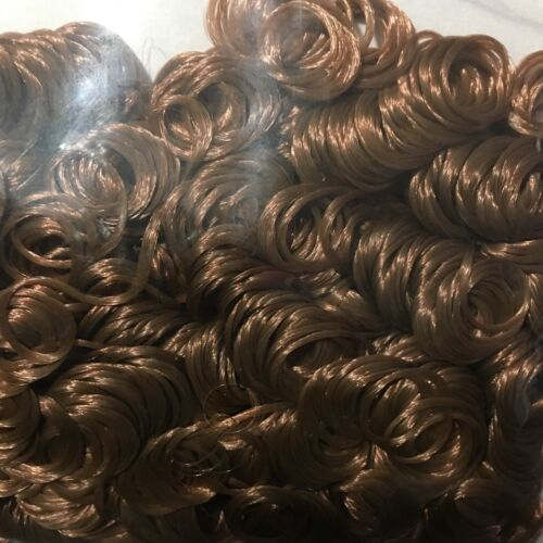 Brown Curly Doll Hair Quick Curls .71 Ounces Decorative Fiber Craft