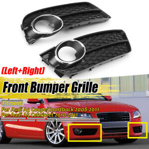 For-Audi-A5-2008-2011-Pair-Standard-Bumper-Front-Fog-Light-Grille-Grill