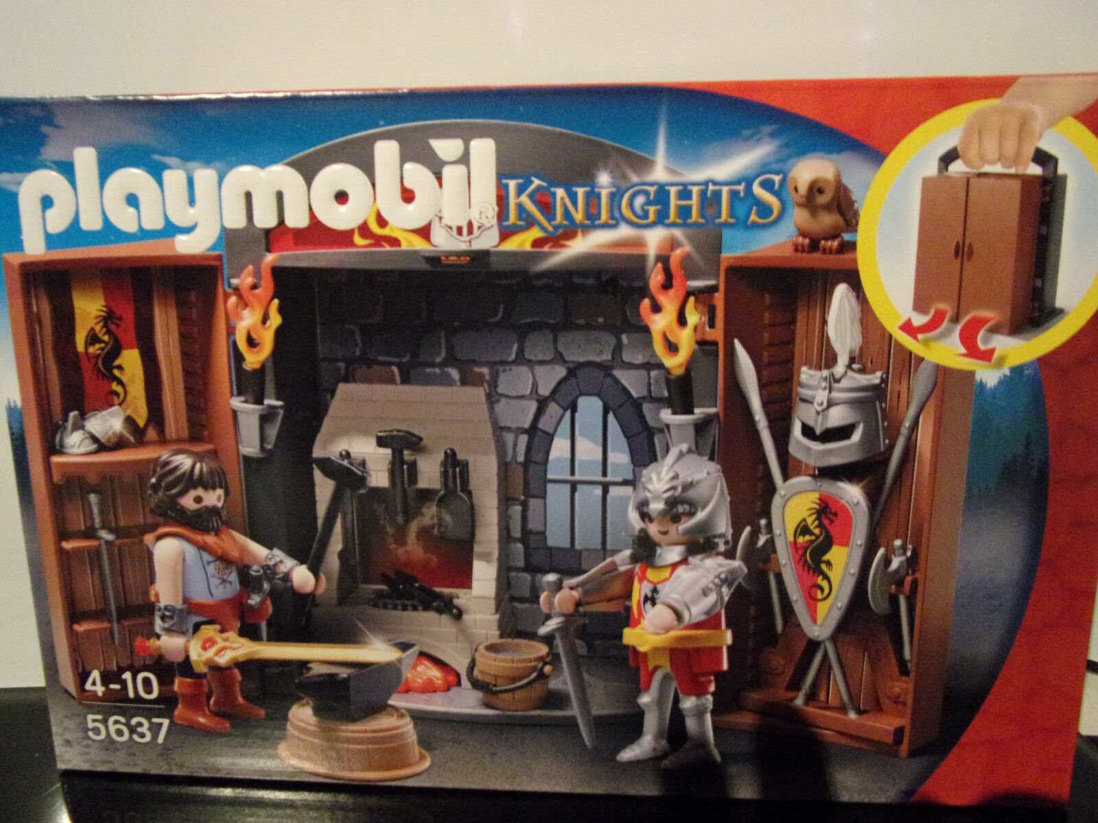 Playmobil 5637 Pop-Up Game Game Game Box Ritterschmiede (Knights) - Nip 967921