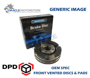OEM-SPEC-FRONT-DISCS-PADS-255mm-FOR-TOYOTA-CARINA-E-2-0-D-CT190-1992-96