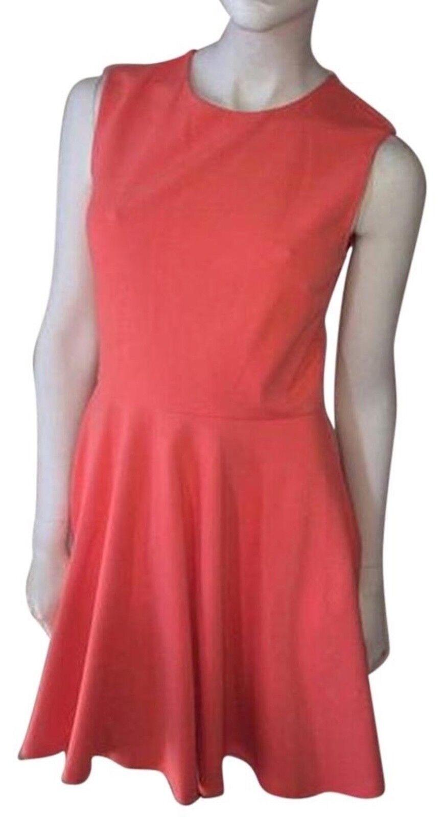 FREE SHIP  NwT Diane Diane Diane von Furstenberg orange Jeannie Dress in Firework orange 4 a84455